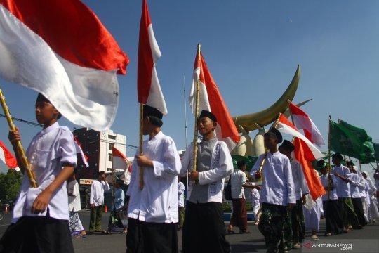Kirab Hari Santri Nasional di Ngawi