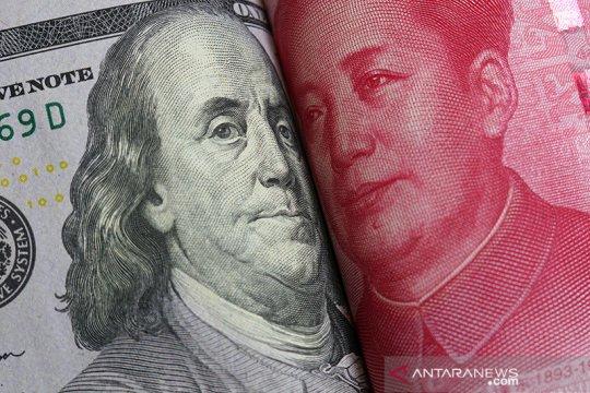 """Yuan """"rebound"""" 129 basis poin menjadi 6,5584 terhadap dolar AS"""