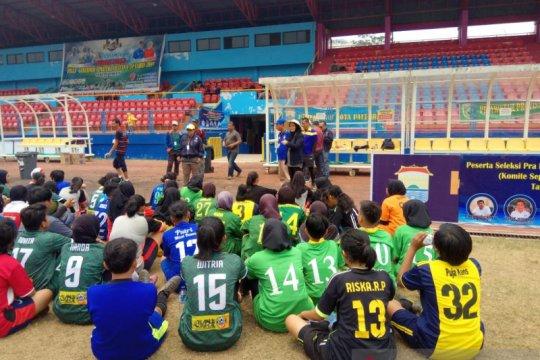 Asprov PSSI Sumsel gelar seleksi pemain sepak bola putri PON 2020