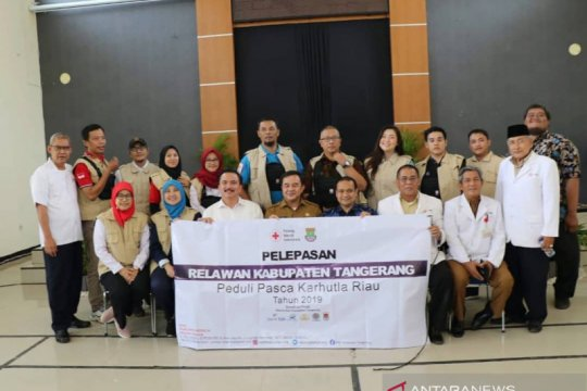 PMI Kabupaten Tangerang diberangkatkan bantu korban karhutla Riau
