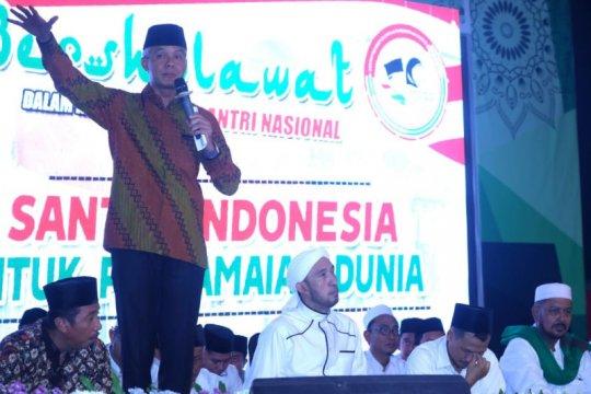 Ganjar sebut ramalan santri mengenai Prabowo jadi kenyataan