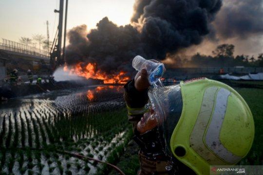 Pertamina : Tidak ada kegiatan fisik korporasi di area kebakaran pipa