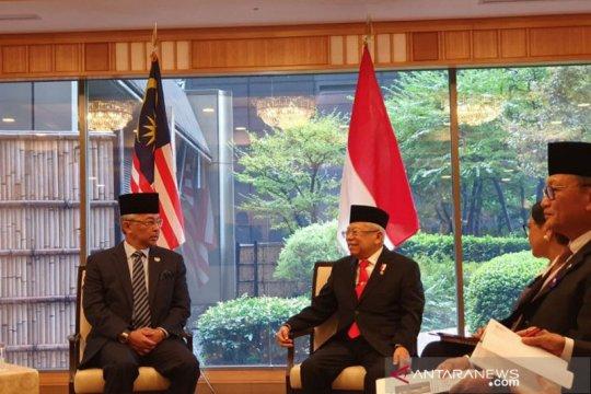 Bertemu Raja Malaysia, Wapres Ma'ruf minta pekerja migran dilindungi