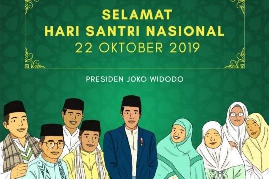 Presiden Jokowi sampaikan ucapan Selamat Hari Santri