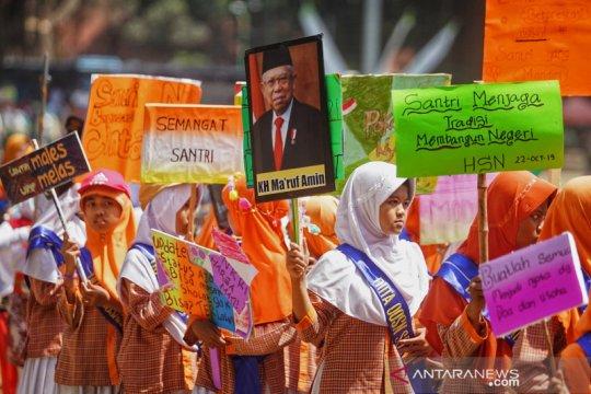 Kirab budaya hari santri di Yogyakarta