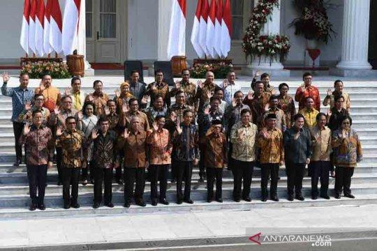 Jokowi-Ma'ruf namakan Kabinet Indonesia Maju