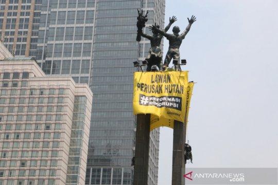 Anies sebut aksi Greenpeace di Bundaran HI untuk dunia