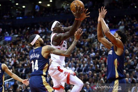 Raptors menangi laga pembuka musim, tundukkan Pelicans lewat overtime