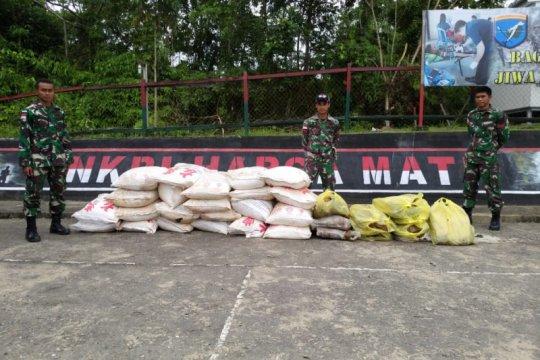 Satgas Pamtas kembali amankan barang ilegal di perbatasan