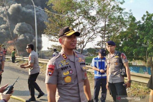 Polisi masih selidiki sebab terbakarnya pipa minyak di Cimahi