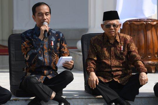 Presiden Jokowi ke menteri Kabinet Indonesia Maju: Jangan korupsi