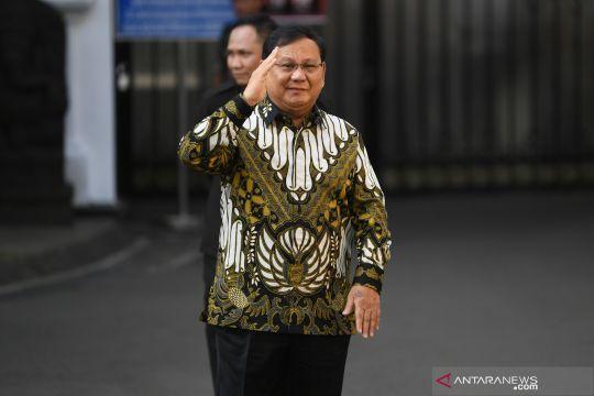 Jelang pengumuman kabinet, Prabowo Subianto tiba di Istana Kepresidenan