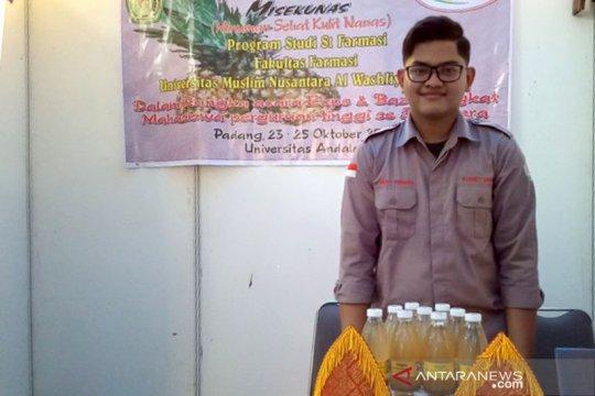 Minuman sehat dari limbah kulit nanas inovasi mahasiswa UMN dipamerkan