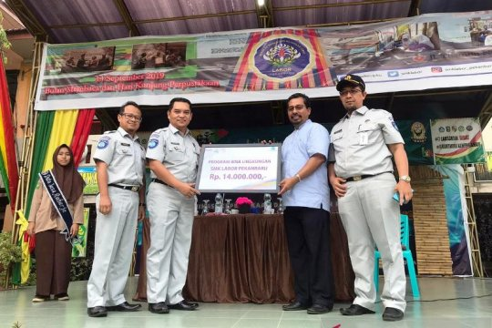 CSR Jasa Raharja giring Pustaka SMK Labor Pekanbaru juara nasional