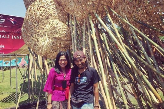 "Seni instalasi ""percantik"" Taman Budaya Provinsi Bali"