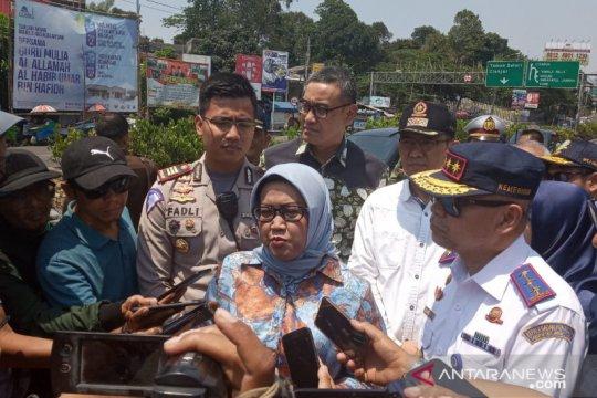 BPTJ-Polres Bogor  lakukan uji coba sistem 2-1 di jalur Puncak