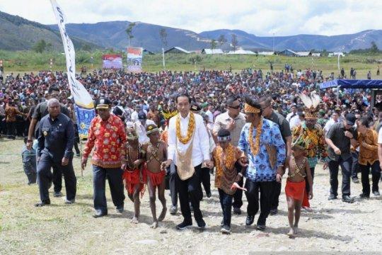 Presiden Jokowi kunjungi Pegunungan Arfak