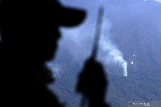 Pemadaman karhutla cagar alam Merapi Ungup-ungup