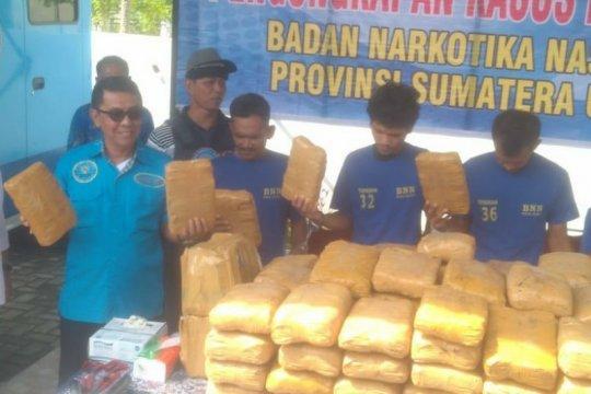BNNP Sumut ungkap 71 kasus dengan 106 tersangka sepanjang 2019