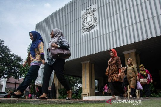 Lantai tujuh Gedung G Balai Kota DKI ditutup sementara terkait Corona