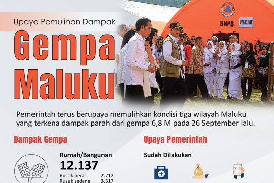 Upaya pemulihan dampak gempa Maluku