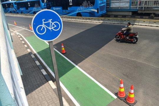 Jalur sepeda Jakarta belum ramah bagi pengguna
