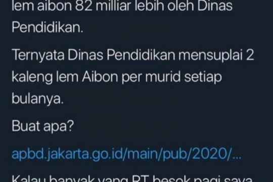 Lem Aibon Rp82,8 miliar, Disdik DKI: Ada kesalahan input