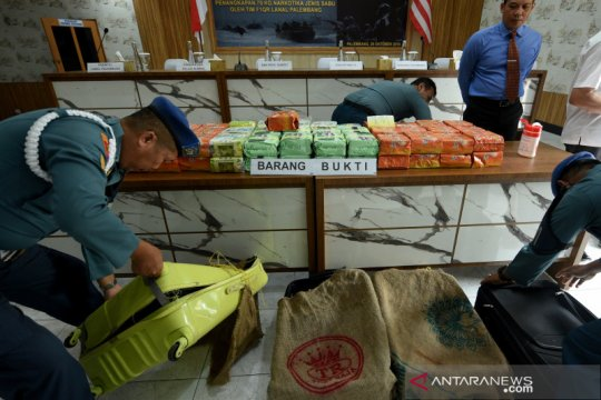 BNNP Sumsel dalami jaringan penyelundup 79 kilogram sabu di Palembang