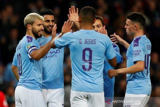 Man City melenggang ke perempat final, disusul Everton dan Leicester