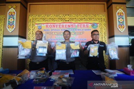 Polda Kalimantan Selatan rata-rata ringkus sembilan pengedar sehari