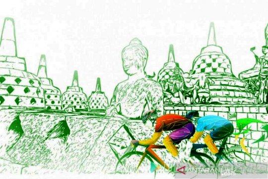 Tour de Borobudur XIX lintasi enam objek wisata