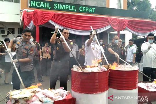 Barang bukti narkoba paling banyak dimusnahkan di Jakarta Barat