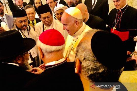 Wakil NU dan Muhammadiyah bertemu Paus