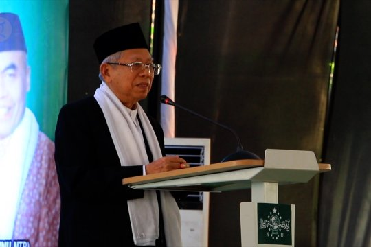 Ma'ruf Amin berharap NU bangun gerakan kontra radikalisme