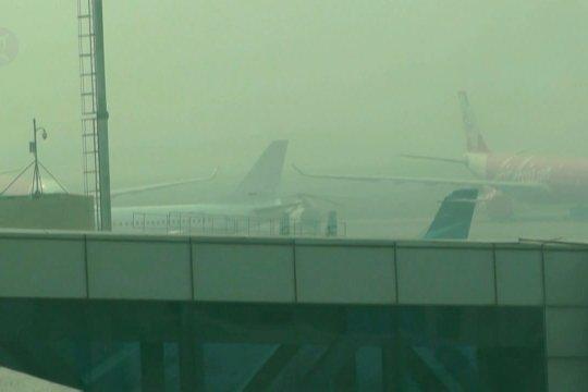 Jarak pandang di Bandara Palembang terganggu hingga akhir Oktober