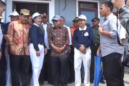 Wapres kunjungi lokasi pembangunan hunian tetap di Palu