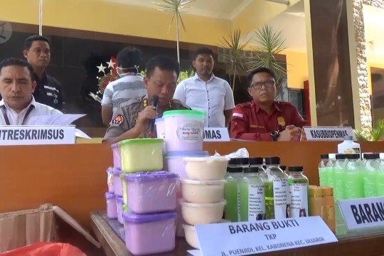 Polisi amankan pengedar ribuan kosmetik ilegal