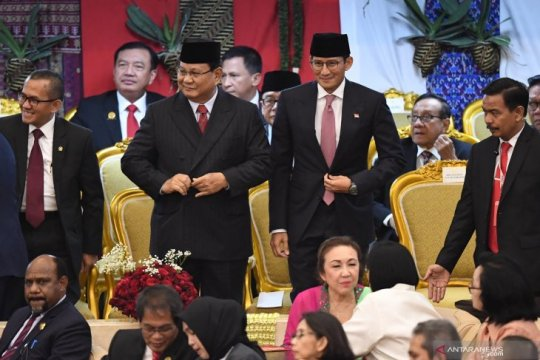 Prabowo dan Sandi hadir di pelantikan Presiden 2019-2024