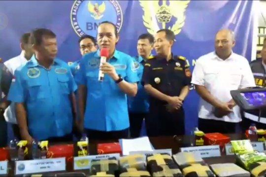 BNN gagalkan penyelundupan 38 kg sabu dari Malaysia