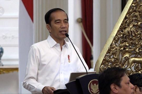 Presiden Jokowi beri arahan kepada para menteri
