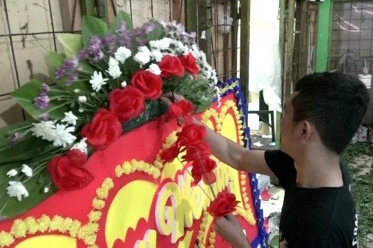 Bisnis lesu penjualan karangan bunga pelantikan Jokowi-Ma'ruf
