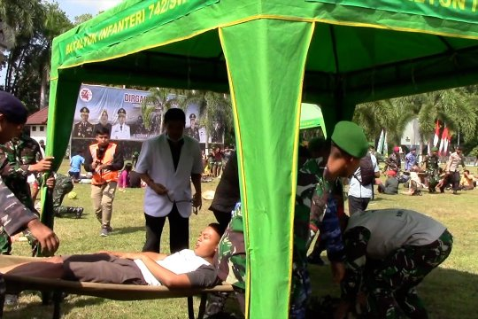 HUT 74 TNI di NTB merefleksi 1 tahun gempa bumi