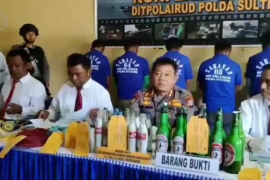 Polda Sulteng tangkap 7 pelaku illegal fishing