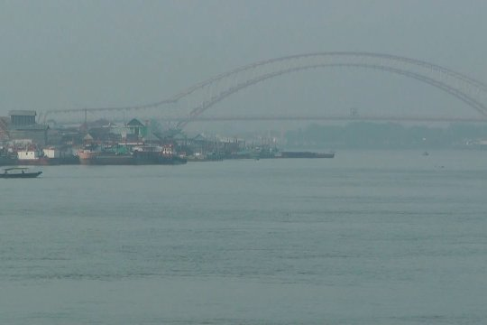 Palembang kembali dikepung kabut asap