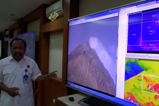 Pasca erupsi, status Gunung Merapi tetap waspada level II