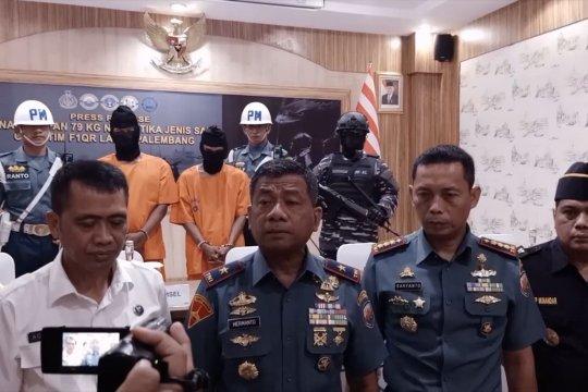 Petugas Lanal Palembang sita 79 kilogram sabu