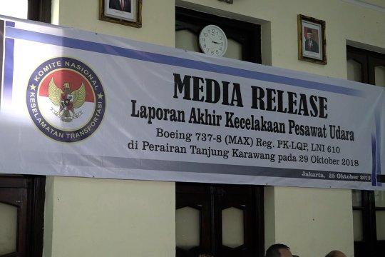 Rekomendasi KNKT pasca-tragedi jatuhnya Lion Air JT 610