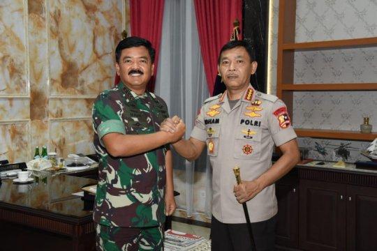 Panglima TNI menerima kunjungan perdana Kapolri
