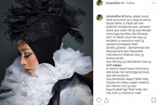 "Bubah Alfian minta maaf, Melly Goeslaw: ""forgive and forget"""