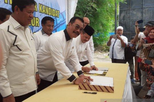 Empat kandidat kepala daerah tandatangani kontrak politik dengan Kadin
